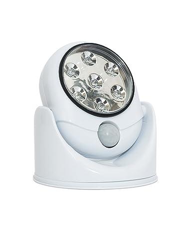 LED de pared para exteriores luz de seguridad – en casa giratorio funciona con pilas Sensor