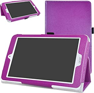 "Acer Iconia One 8 B1-860 Case,Mama Mouth PU Leather Folio 2-Folding Stand Cover with Stylus Holder for 8.0"" Acer Iconia One 8 B1-860 Android Tablet,Purple"