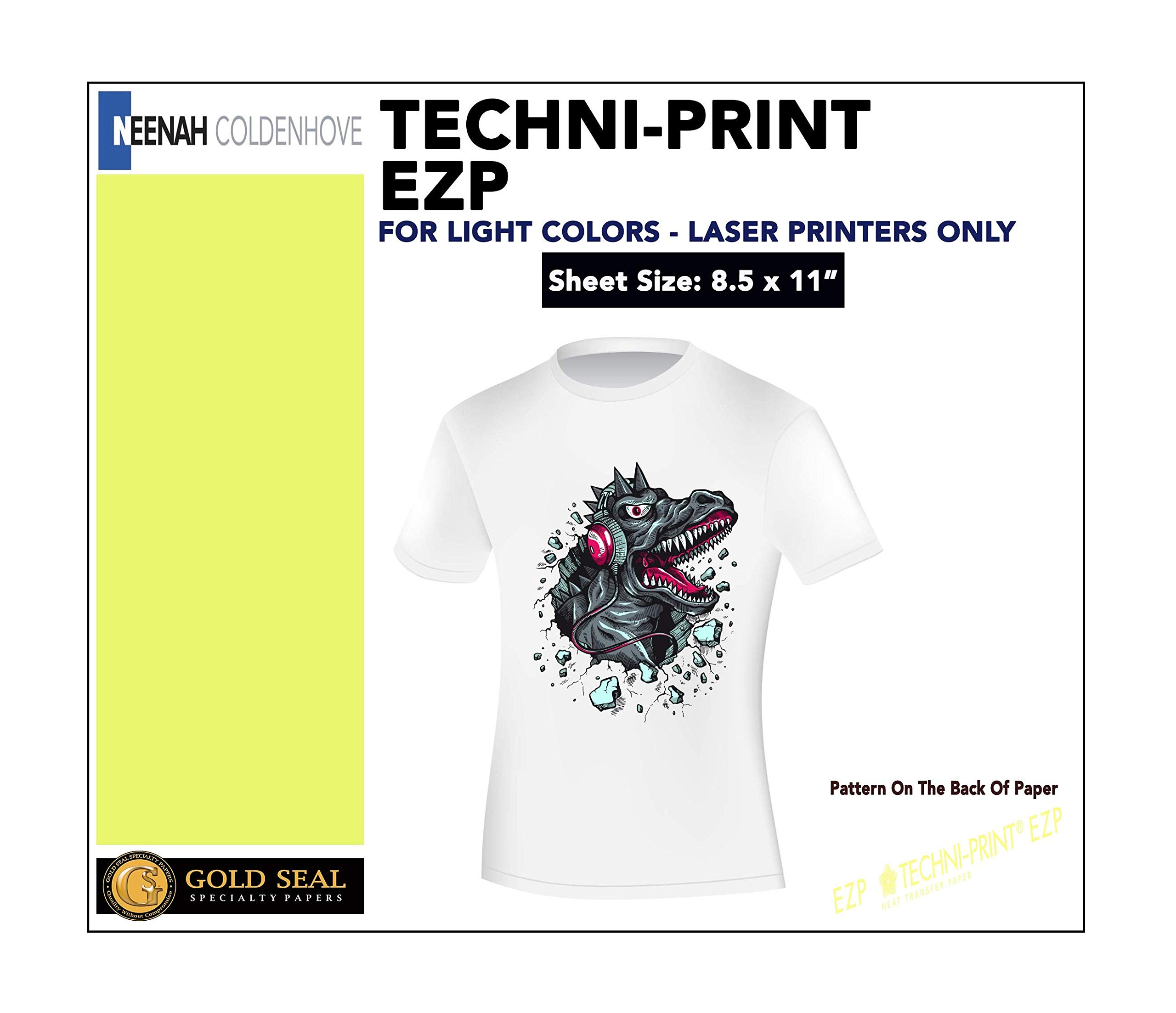 Techni-Print EZP Laser Heat Transfer Paper 8.5''x11'' 100 by Neenah