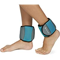 Realbalance Adjustable Ankle Leg Weights Leg Arm Wrist Straps Wraps Set Removable Steel Bar Sports Fitness Running Jogging Walking Lifting Exercise Workout Gym for Men Women Youth