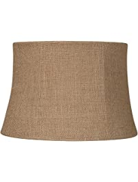 Lamp shades amazon lighting ceiling fans lighting natural burlap drum lamp shade 10x12x8 spider greentooth Image collections