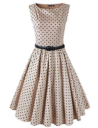 Hepburn estilo 1950 del Rockabilly, diseño de lunares Swing pin-up ...