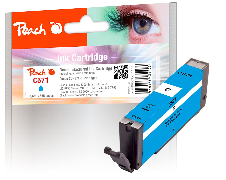 Peach 320130 Compatible Cian - Cartucho de tinta para impresoras ...