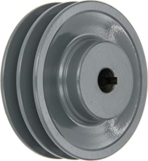"""5.25/"""" Cast Iron 5//8/"""" Shaft Pulley Sheave Single 2 Groove V Style A Belt 4L New"""