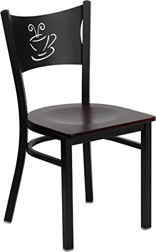 Flash Furniture HERCULES Series Black Coffee Back Metal Restaurant Chair