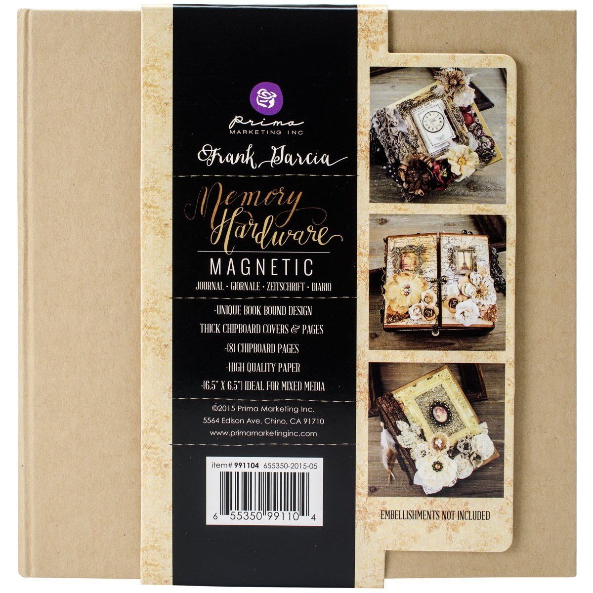 Prima Marketing Frank Garcia Memory Hardware Chip Album-Kraft Magnetic with 8 Pages 205624