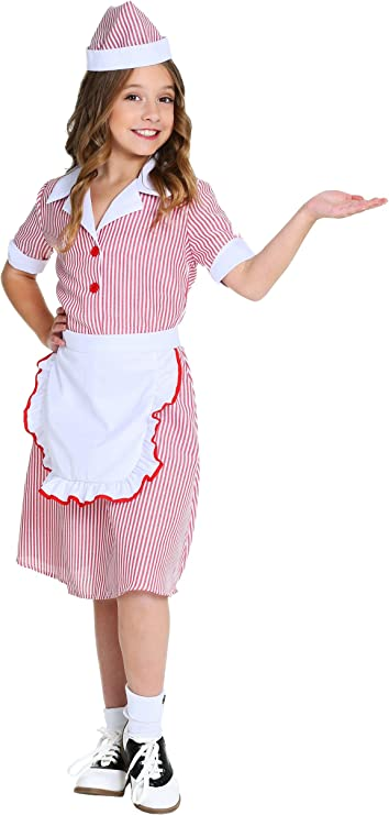 Kids 1950s Clothing & Costumes: Girls, Boys, Toddlers Girls 50s Car Hop Costume $24.99 AT vintagedancer.com