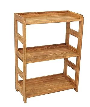 regal beethoven 90x65x33cm echtholz eiche geolt fur wohnzimmer buro oder kinderzimmer