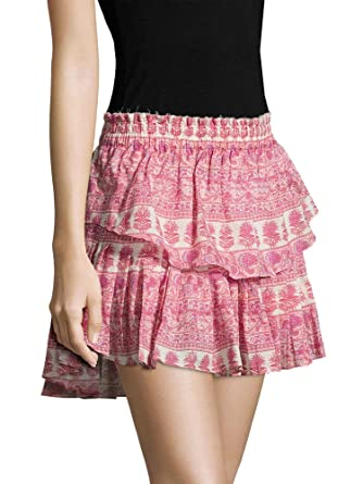 00c945a64 LOVESHACKFANCY Women's Tiered Ruffle Mini Skirt at Amazon Women's Clothing  store: