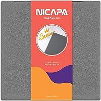 Nicapa Cutting Mat for Cricut (12*12 inch Heat Press mat, 12*12 inch Grey heatpress mat)