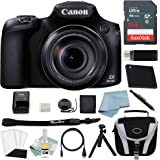 Canon Powershot SX60 HS Bundle + Deluxe Accessory Kit - Including EVERYTHING You Need To Get Started