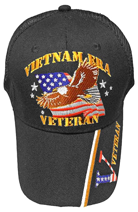 41dc5acaa49 Image Unavailable. Image not available for. Color  Vietnam ERA Veteran Cap  Eagle TRUCKER Hat Army Navy Air Force Marine