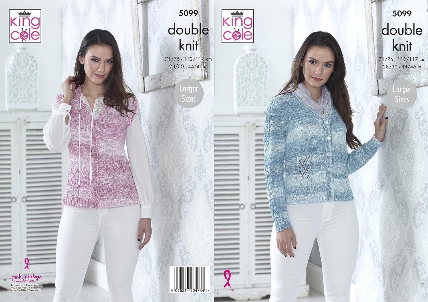 King Cole 5099 - Patrón de punto para mujer (chaqueta y chaleco en ...