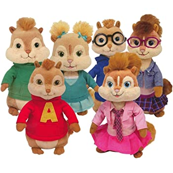 TY Beanie Babies - Alvin & the Chipmunks (Complete Set of 6)