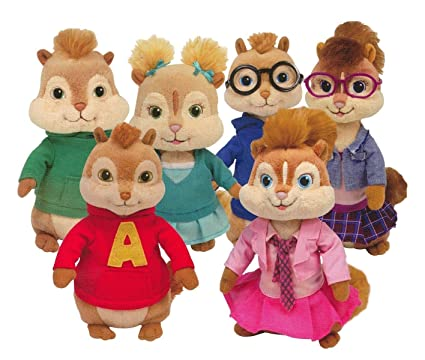 Image Unavailable. Image not available for. Color  TY Beanie Babies - Alvin    the Chipmunks ( Complete Set ... c9e5cae66078
