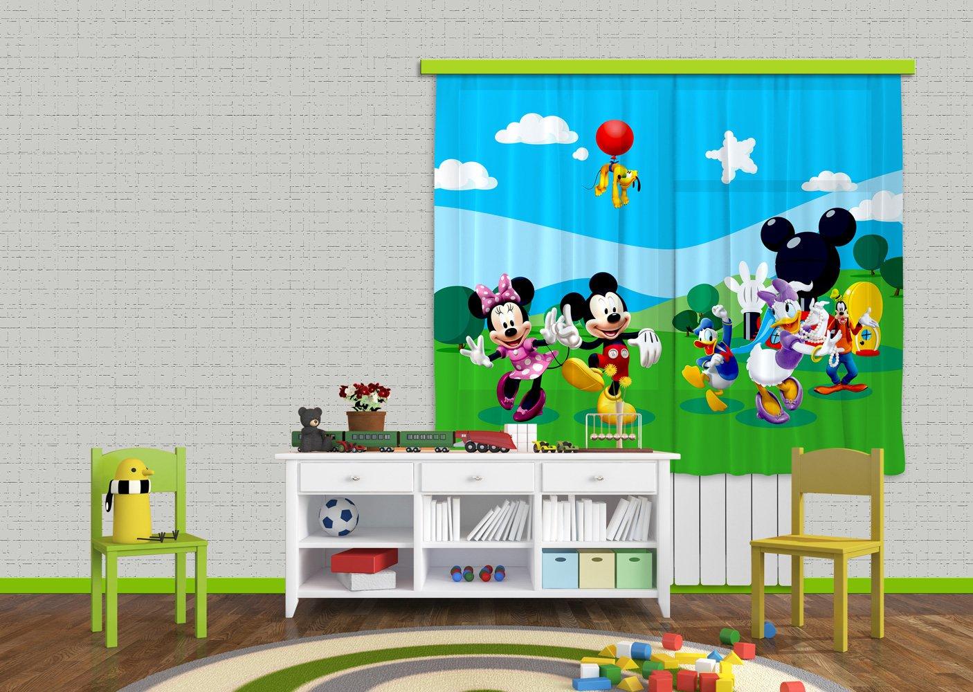 AG Design FCS xl 4307 - Tende per camera bambini, motivo Topolino Disney FCSXL 4307
