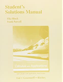 Calculus with applications plus mylab math with pearson etext students solutions manual for calculus with applications and calculus with applications brief version fandeluxe Gallery
