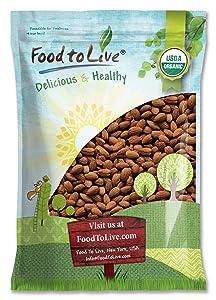 Organic Dry Roasted Almonds, 8 Pounds - Non-GMO, Unsalted, Vegan, Keto, Paleo, Kosher, Bulk, High in Protein, Dietary Fiber, Vitamin E, Copper, Manganese, Magnesium, and Riboflavin.