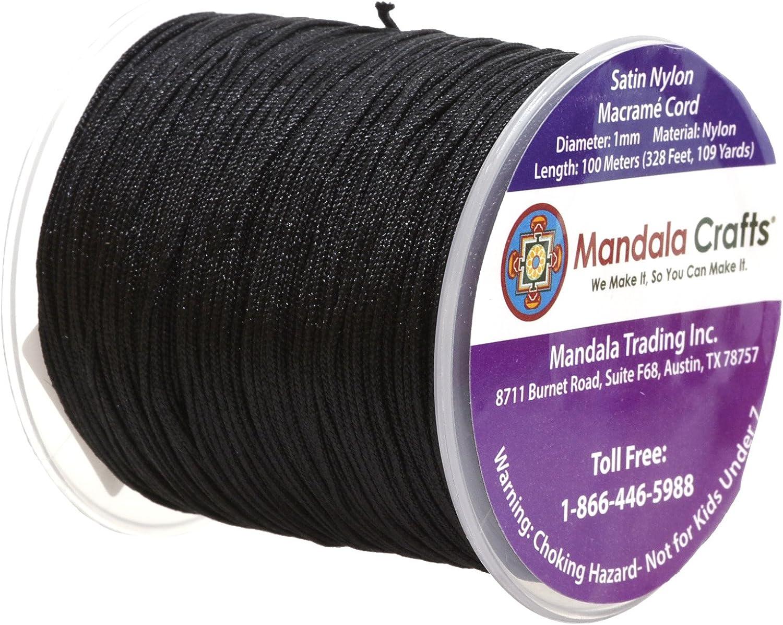 1mm Nylon SATIN Cord 15 Yards LILAC Silk Nylon Smooth Chinese Knot Shamballa Macrame Rattail Bulgtail Mousetail Knotting 1 mm Cords