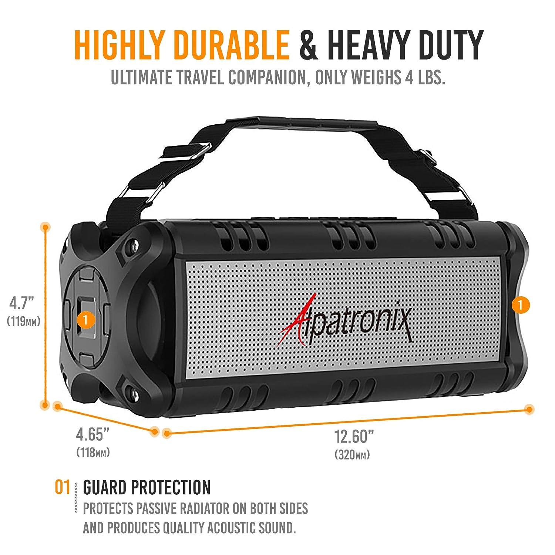 Waterproof Bluetooth Speaker, 40W Portable Wireless Speaker, 8000mAh Power  Bank, Shockproof w/TWS, DSP, Stereo, Subwoofer, TF Card & Equalizer,