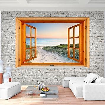 Fototapete Fenster fototapete fenster zum strand meer vlies wand tapete wohnzimmer