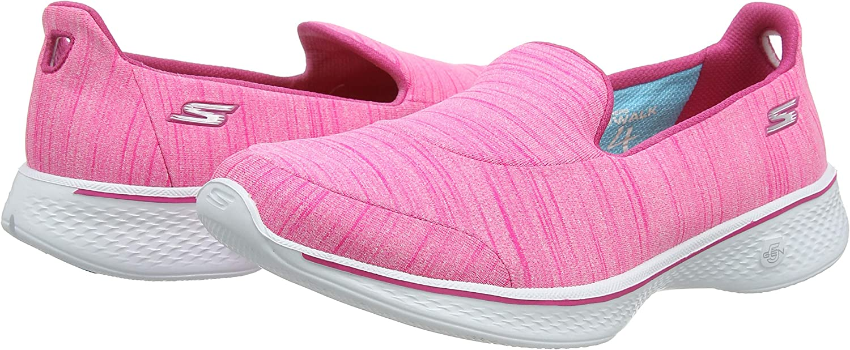 Skechers Go Walk 4-Satisfy, Zapatillas de Entrenamiento para Mujer ...