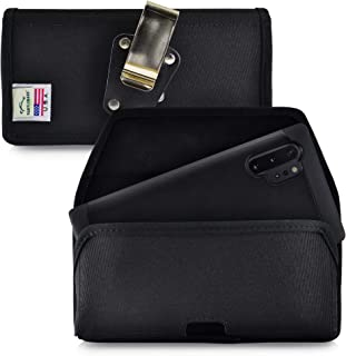 product image for Turtleback Belt Clip Case Designed for Samsung Galaxy Note 10+ Plus (2019) Belt Holster Black Nylon Pouch with Heavy Duty Rotating Belt Clip, Horizontal Made in USA