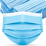 50 Pcs Disposable Face Masks, Comfortable Earloop Procedure Mask 3-Layer with Melt-Blown Fabric, to Protection and Personal H