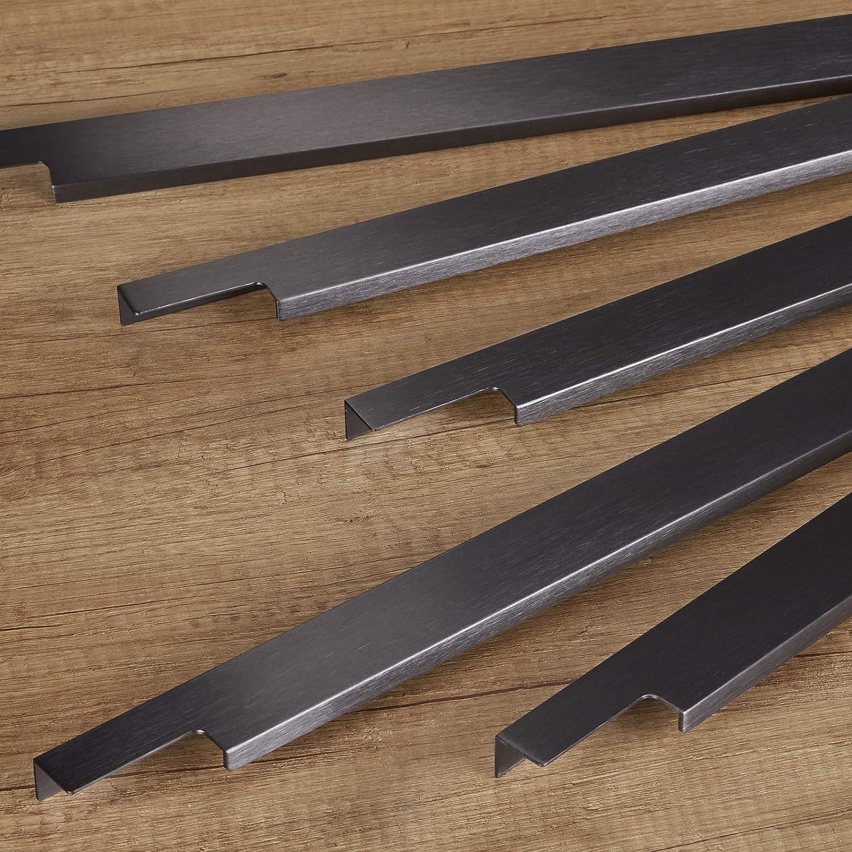M/öbelgriff BLANKETT 1195 mm Titanoptik geb/ürstet Griffleiste Schrankgriff K/üchengriff von SO-TECH/® Wird an die Frontinnenseite verschraubt