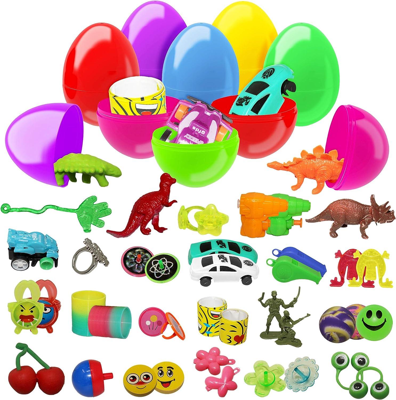 100 uova giocattolo assortite colorate Perfetti per feste di Pasqua, caccia all'uovo, bomboniere, regalini, ricompense di classe e altro