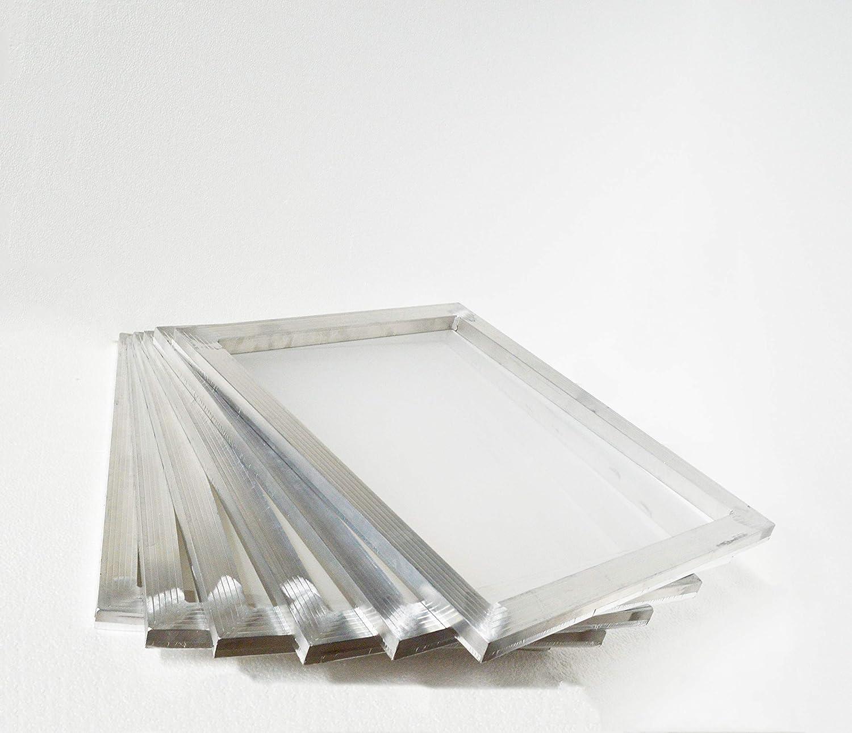 INTSUPERMAI 6pc 23Inch x31Inch Aluminum Silk Screen Frame with 110 Mesh White Pre-Stretched Silk Screen Printing Frame