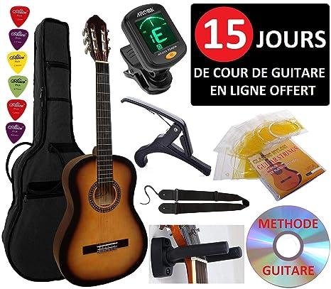 Guitarra Española Clásica 4/4 (Adulto) 7/8 3/4 1/2 1/4 (Niño) + 6 ...