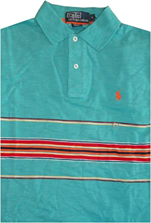 Ralph Lauren Polo Mens Short Sleeve Shirt Teal with Multicolor ...