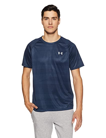adf8de628b Amazon.com: Under Armour Men's Tech Printed Short Sleeve Shirt ...