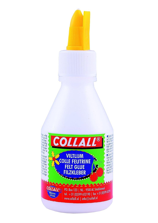 Collall 228345 Colle pour Feutrine Colle Blanc 4, 5 x 4, 5 x 13 cm COLL-FELT12