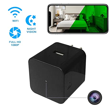 Hidden Spy Camera - Wireless Home USB Security Camera with Charger - Best  Mini Spy Cam WiFi 1080p - Night Vision Security Spy Camera with Motion  Detector ... a5a5e7f335