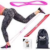 Booty Bands Resistance Bands Workout Equipment by Amneliet | Booty Belt with Fitness Bands, Workout Guide & Nutrition Ebook Included for Brazilian Butt Lift Workouts at Home, Perfect for Glutes & Abs