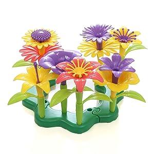 Play 2 Grow Flower Garden Building Set, 29 Piece Set