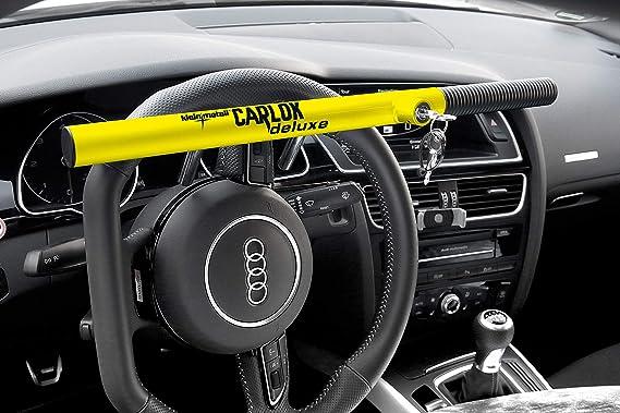 Kleinmetall 60230600 Carlok Deluxe Auto Diebstahlsicherung Lenkradkralle Absperrstange Gelb Auto