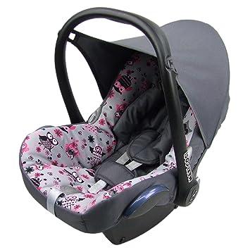 Bambiniwelt Ersatzbezug Für Maxi Cosi Cabriofix 6 Tlg Bezug Für Babyschale Komplett Set Eule 12 Dunkelgrau Xx Baby