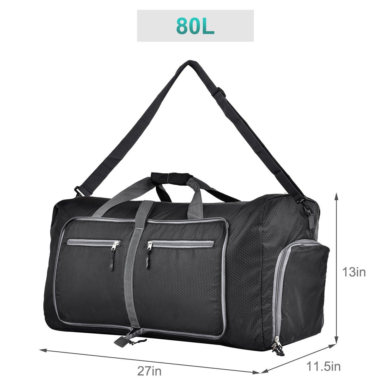 50b7d8fbd5 GAGAKU 45L 80L Foldable Travel Duffel Bag Packable Lightweight Duffle Large  Flight Cabin Bags for Travel