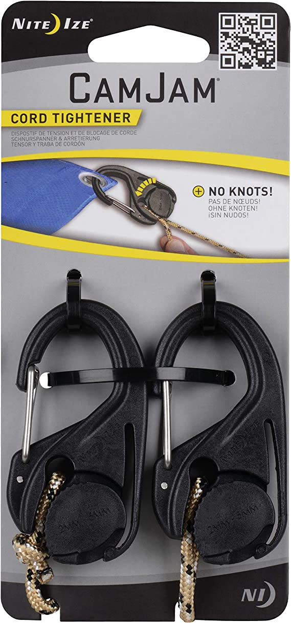 Nite Ize CamJam XT aluminium Corde Tendeur Large Heavy-Duty Cordon /& Cable 2-Pack