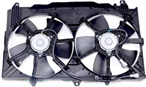 MYSMOT Dual Radiator A/C Condenser Cooling Fan Motor Assembly for 2003-2006 Nissan 350Z / 2003-2006 Infiniti G35 Sedan / 2003-2007 Infiniti G35 Coupe 21487-CD00A