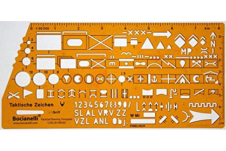 Nato Army Military Tactical Map Marking Symbols Template Stencil
