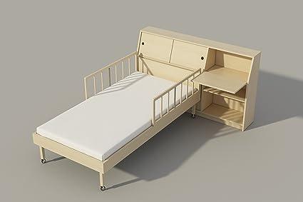 Single Bed Storage Headboard Plans DIY Night Stand Chest Bookcase Storage  Shelf