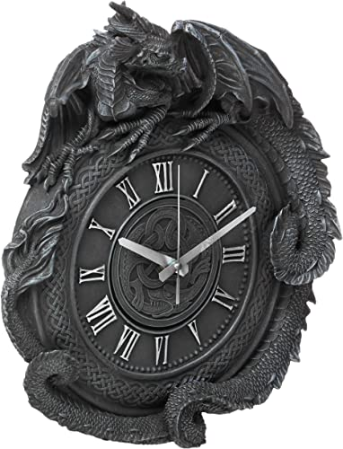 Design Toscano CL2766 Penhurst Dragon Clock,Greystone