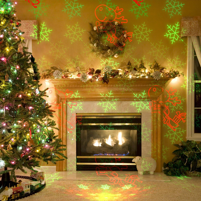 Amazon.com: UP UPKJ Christmas Laser Lights Projector with RF ...