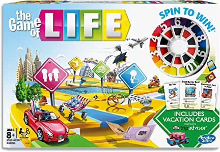 the Game of LIFE - tripadvisor Holiday Edition - Spin to Win - 2 to 4 Players - Board Games - Ages 8+
