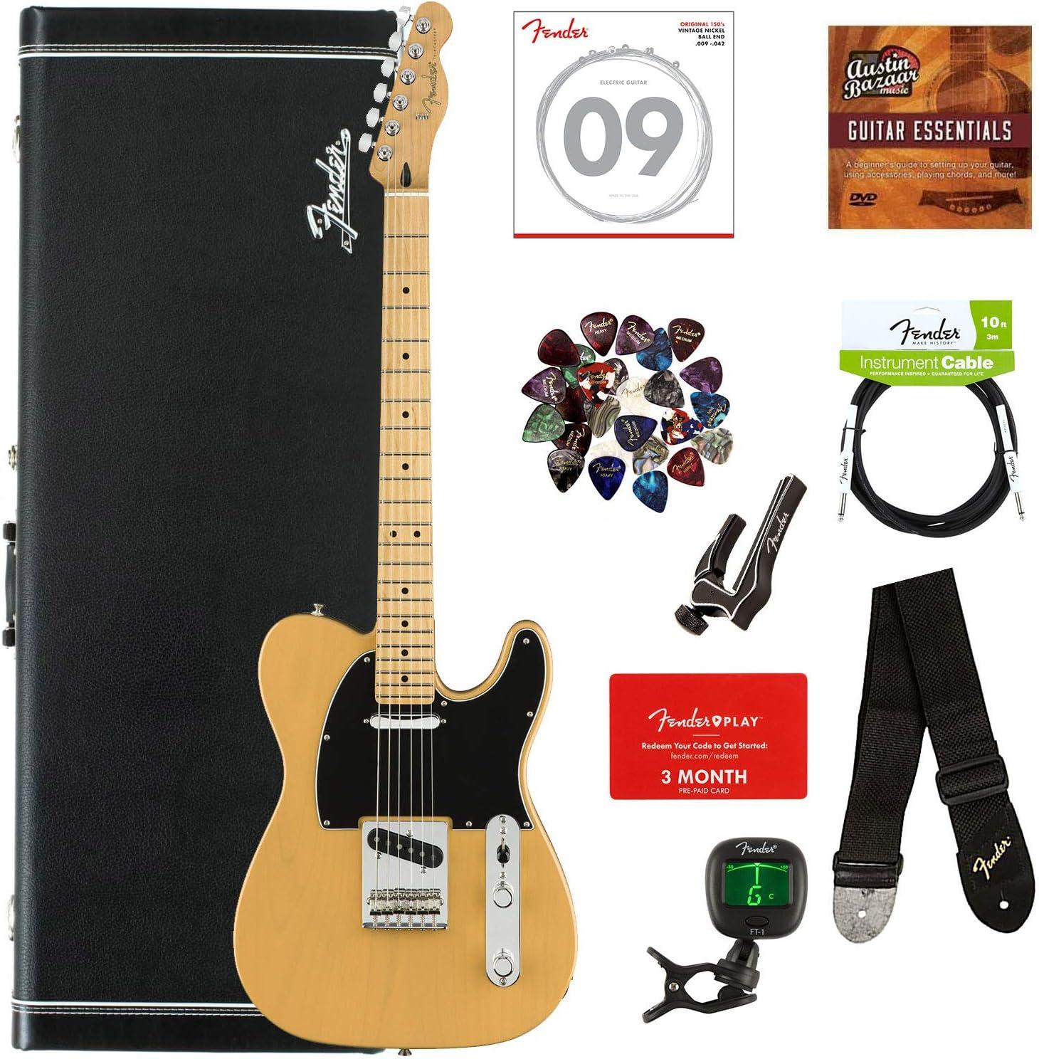 Fender Player paquete de guitarra con estuche rígido: Amazon.es: Instrumentos musicales