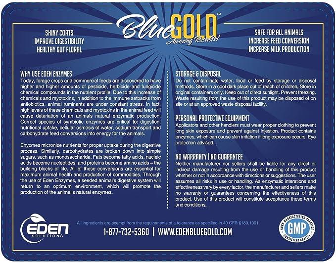 Blue Gold Gran Campeón Repetir Animal Ganado Mascotas Enzimas ...